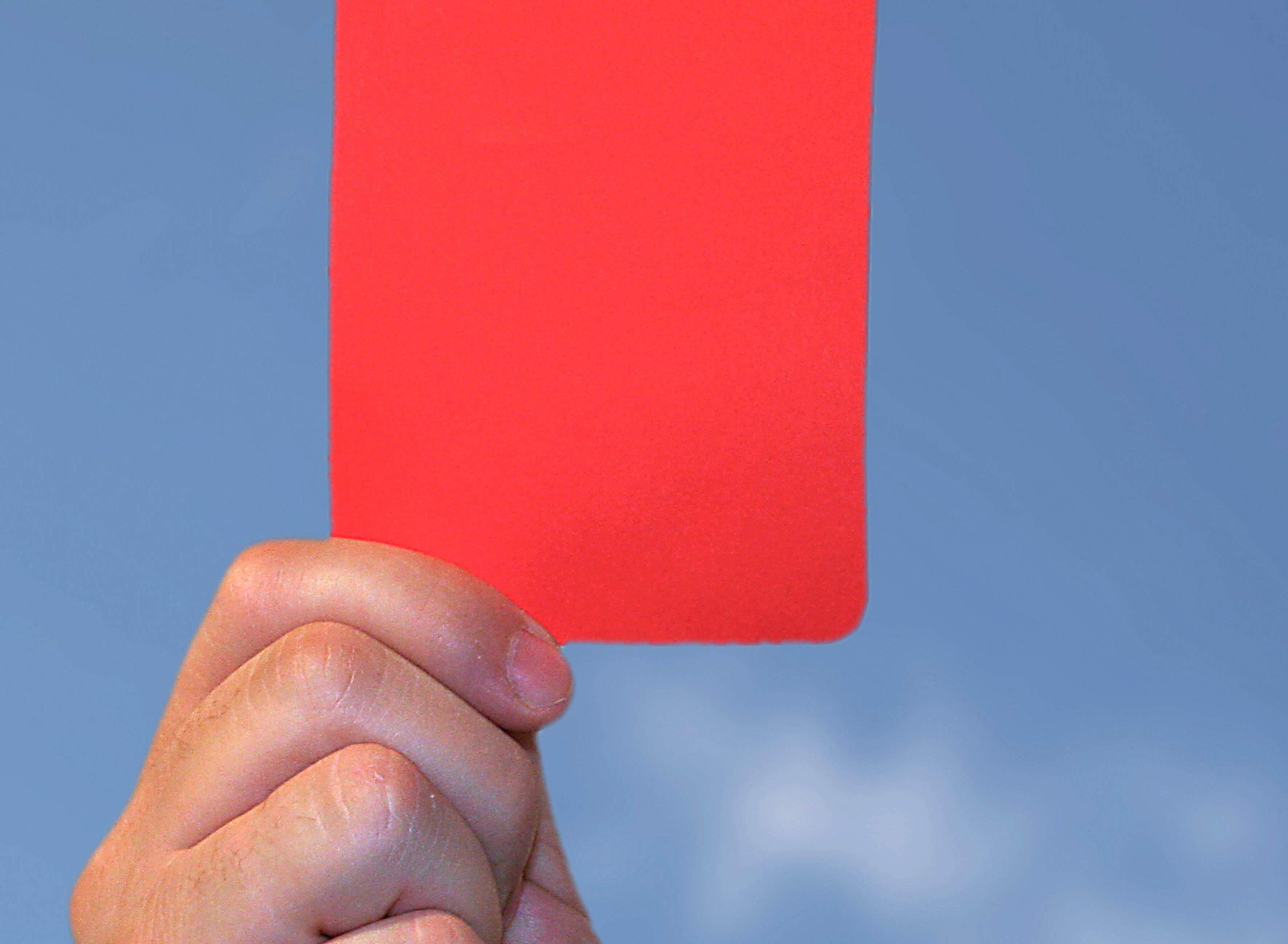 Achtung Änderung bei Pokalspielen bei roter Karte.