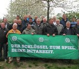 Ernst Halberstadt in Rostock zum DFB Ehrenamtspreis.