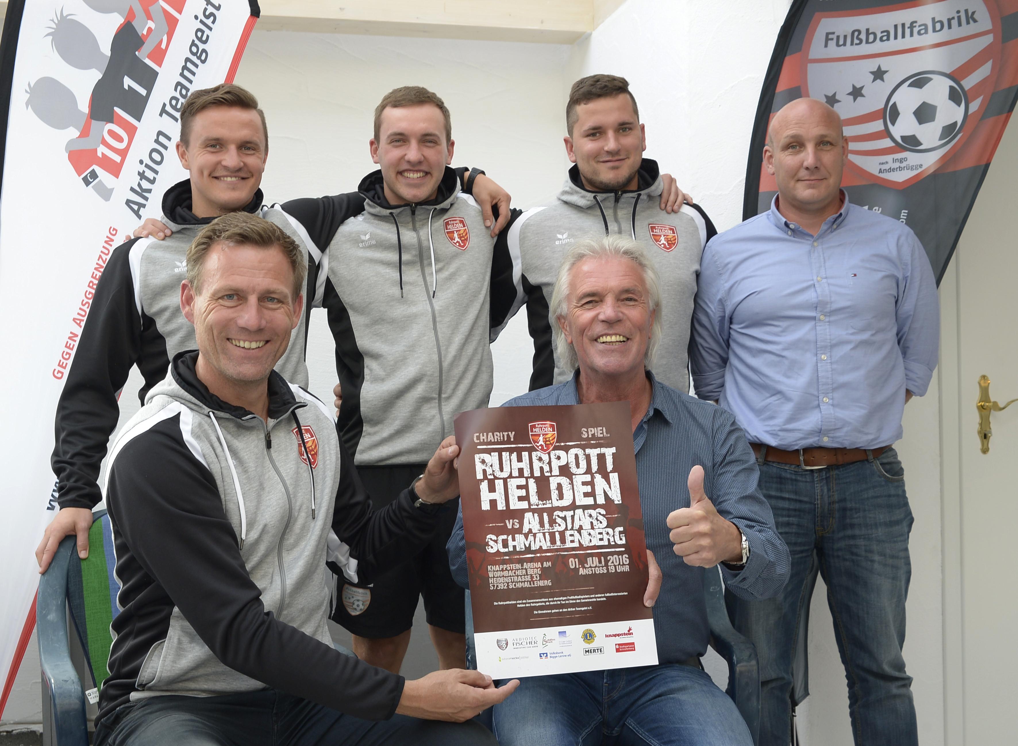Benefizfussballspiel,  am 01.Juli 2016 um 19 Uhr in der Knappstein-Arena am Wormbacher Berg