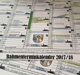 Rahmenterminkalender für die Saison 2017/18